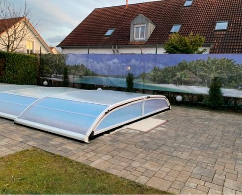 Gartenbanner Schwimmbad